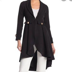 A'jumma New York Plus Size High Low Blazer black